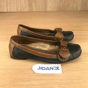 Cole Haan Nike Air Black Brown Buckle Loafer Flats